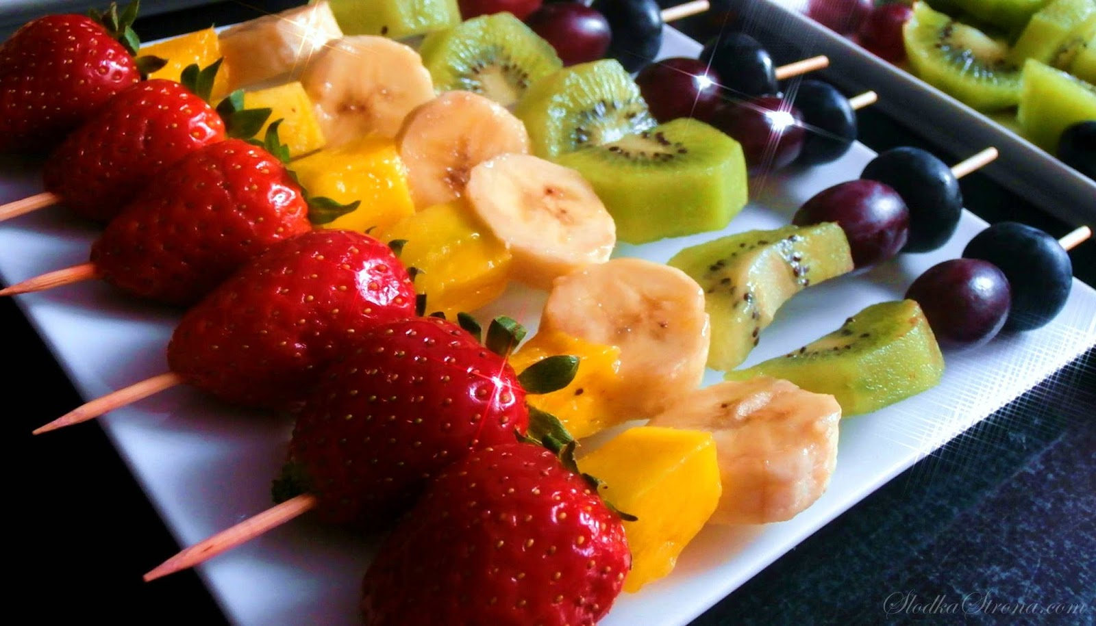 Szaszłyki Owocowe - Przepis - Słodka Strona