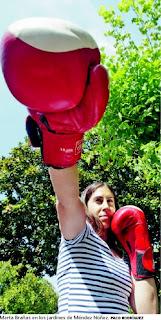 """Entrevista con Marta Brañas, boxeadora: """"Aún no me han roto la nariz"""""""