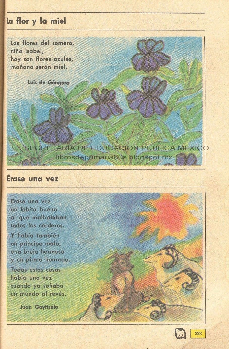 Libros de Primaria de los 80\'s: Poemas - Español Ej. y Lec. 4to grado