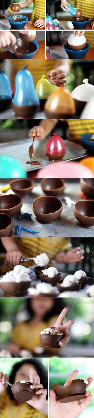 Potes de chocolate