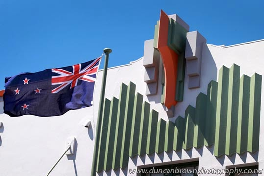 Unashamedly patriotic - Masonic Hotel in Napier photograph