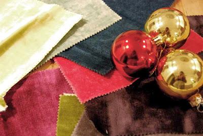 Materiales para bolas de terciopelo de Navidad