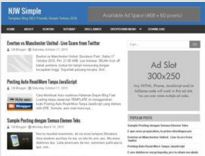 NJW Simple | SEO Friendly Blogger Template