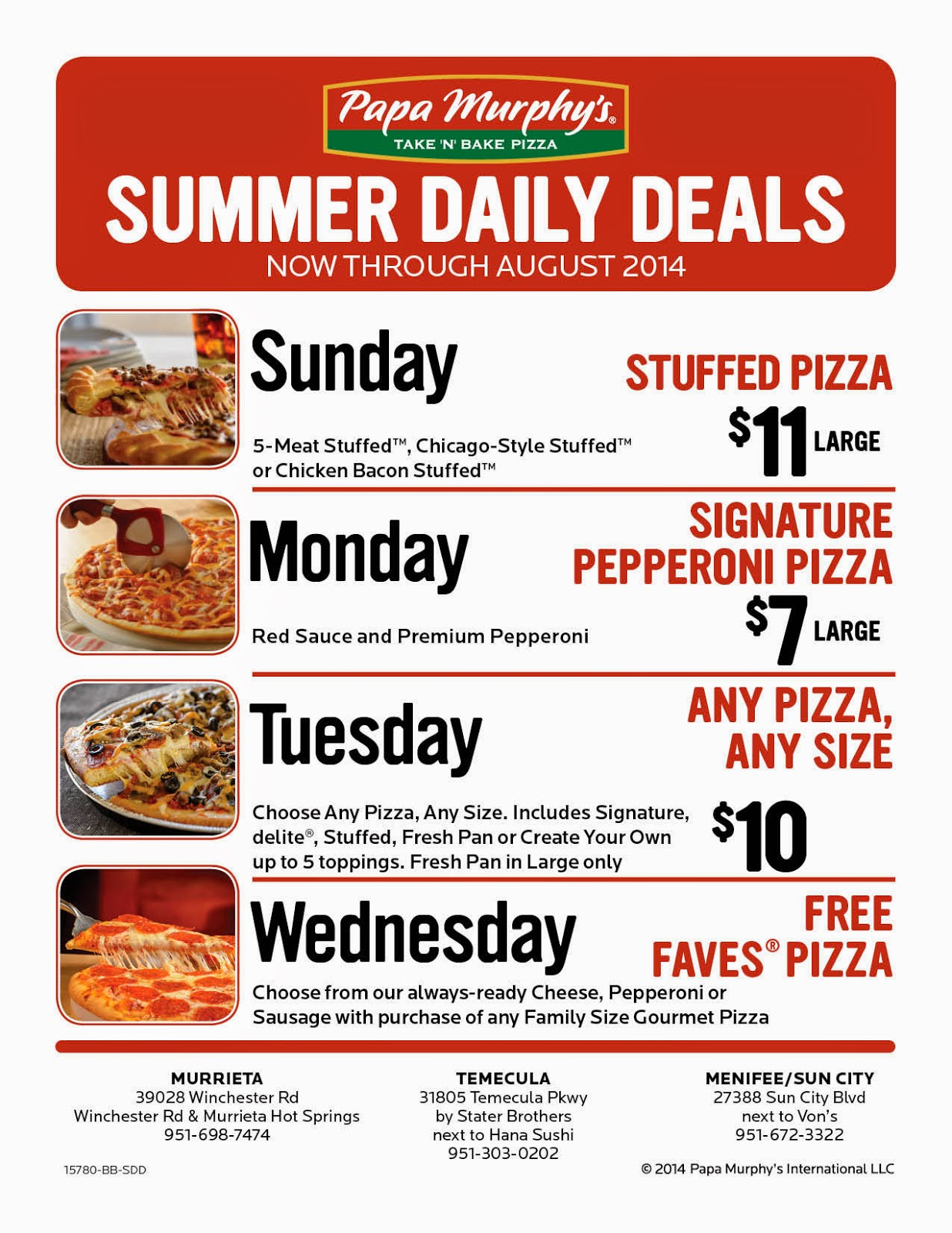 377cba367d84f Papa Murphy s Launches Summer Daily Deals