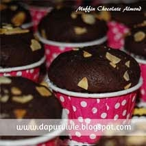 Muffin Cokelat Almond