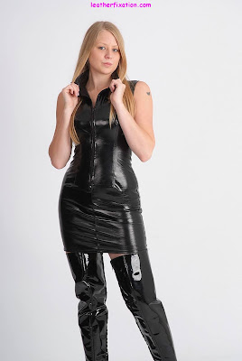 PVC Dress and Thigh Boots