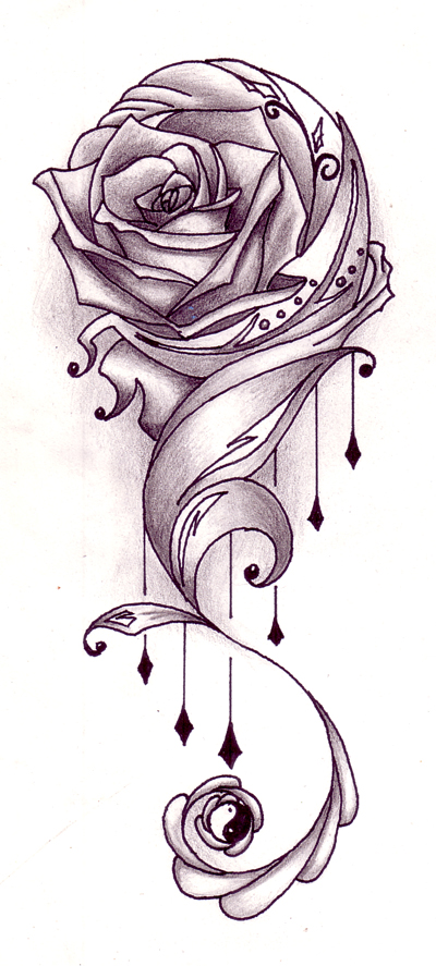 Designing Tattoos on Walaaahhh  Rose Tattoos Designs