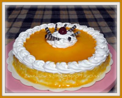 Resepi Kek Keju Mangga Bakar (Baked Mango Cheesecake)