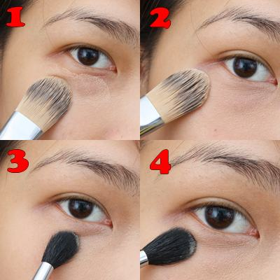 a photo on how to use  Bobbi Brown Creamy Concealer Kit