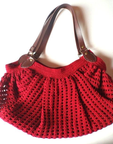 Crochet Bag Bottom : Fat Bottom Crochet Bag in Red Bag n Craft