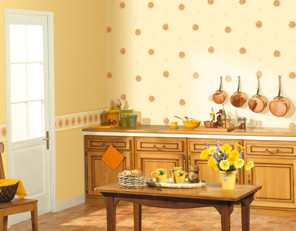 Papel pintado papel pintado cavaillon cocinas for Cocinas empapeladas