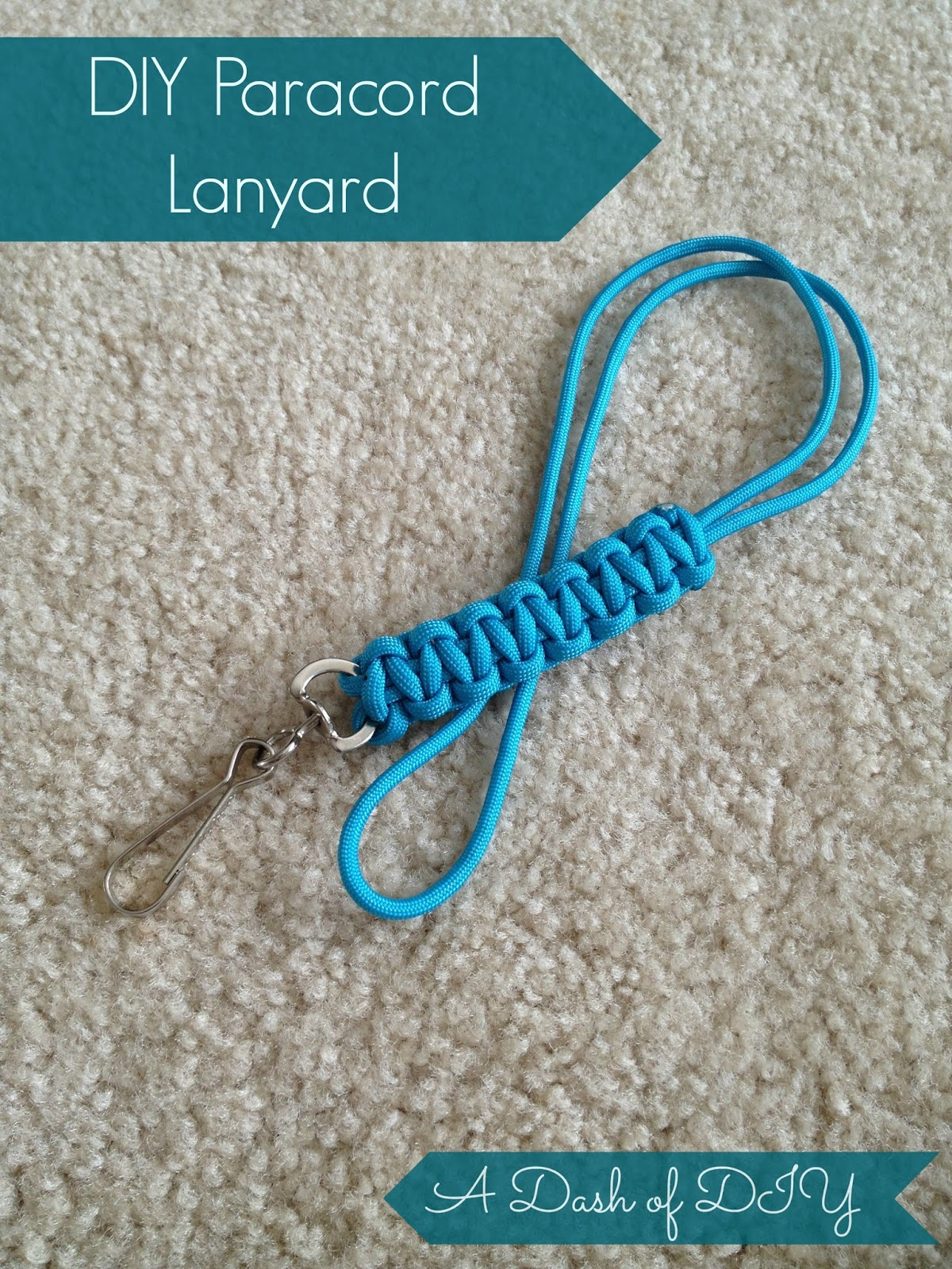 A dash of diy paracord lanyard for How to make a paracord lanyard necklace