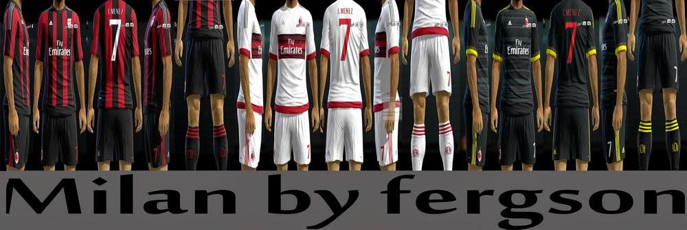 PES 2013 AC Milan 2016 Kits by fergson