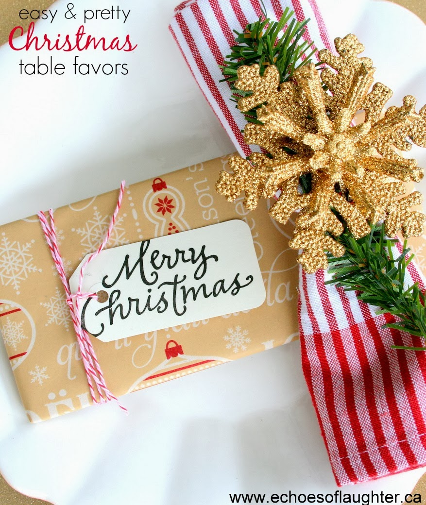 Pretty christmas table favors or gifts echoes of laughter - Table gifts for christmas ...
