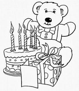 malvorlagen geburtstagstorte kostenlos - Geburtstagskuchen zum Ausmalen - Hellokids com