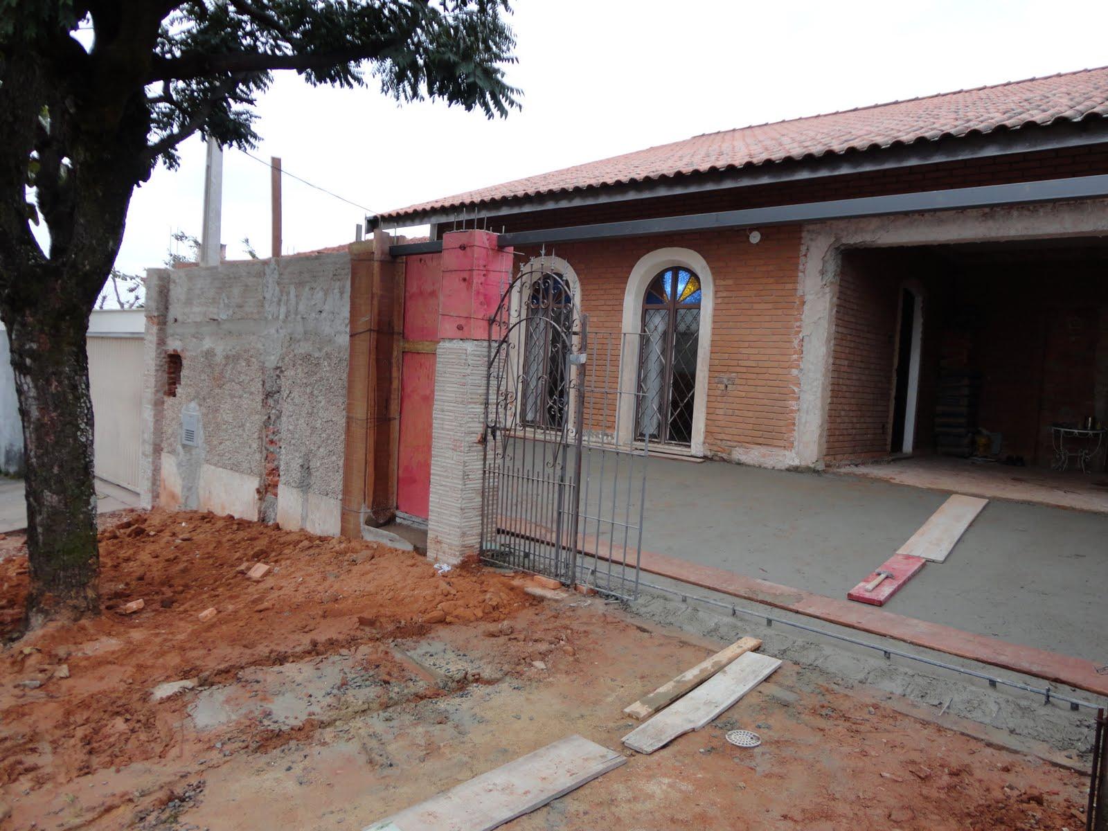 A reforma de nossa casa contra piso fachada da casa e cal ada - Reforma de casas ...
