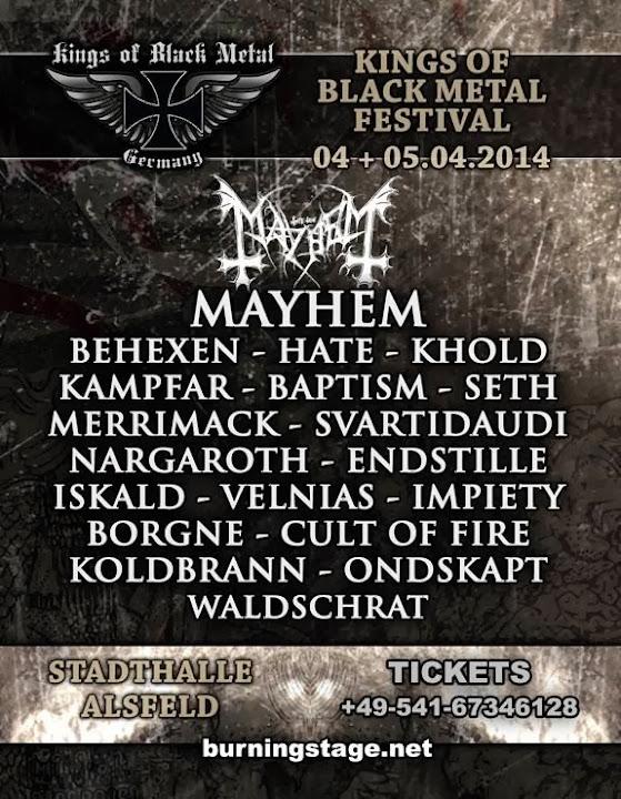 Kings of Black Metal festival 2014 at Stadthalle @ Alsfeld, Hessen, Germany 04 & 05/04/2014