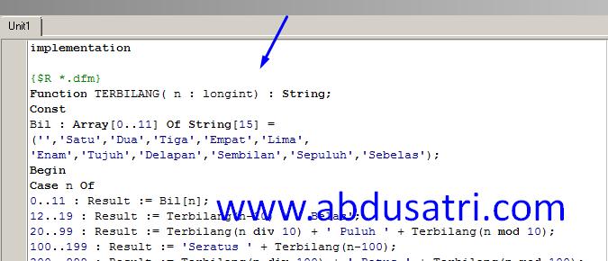 contoh program konversi di delphi
