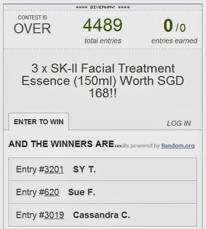sk ii facial treatment essence giveaways winners