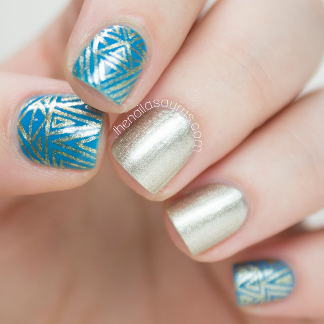 Freehand Art Deco Nail Art