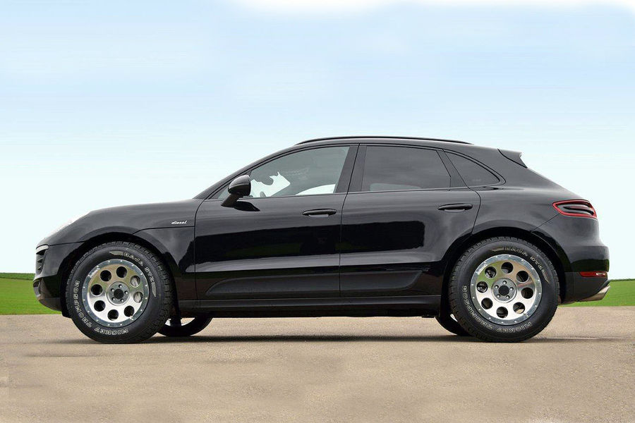 Best All Weather Tires >> Porsche Macan with Off-Road Wheels and Tires Looks Awful | Carscoops