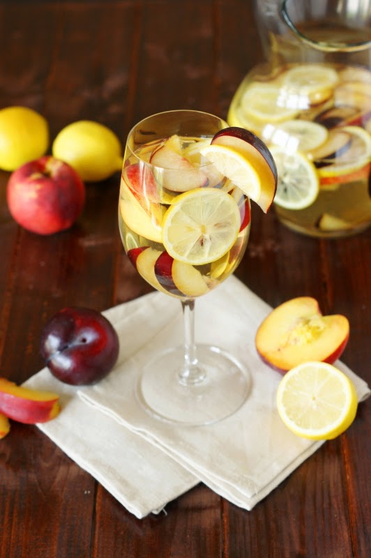 White Sangria with Nectarines, Plums, & Lemons - The ...