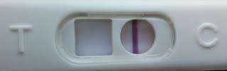 Teste de gravidez negativo - um traço