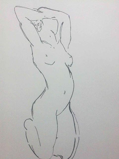 desnudo de rodillas de Matisse