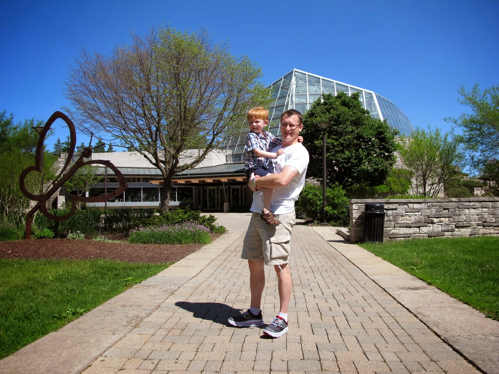 Daddy & Porter at the Butterfly Conservatory
