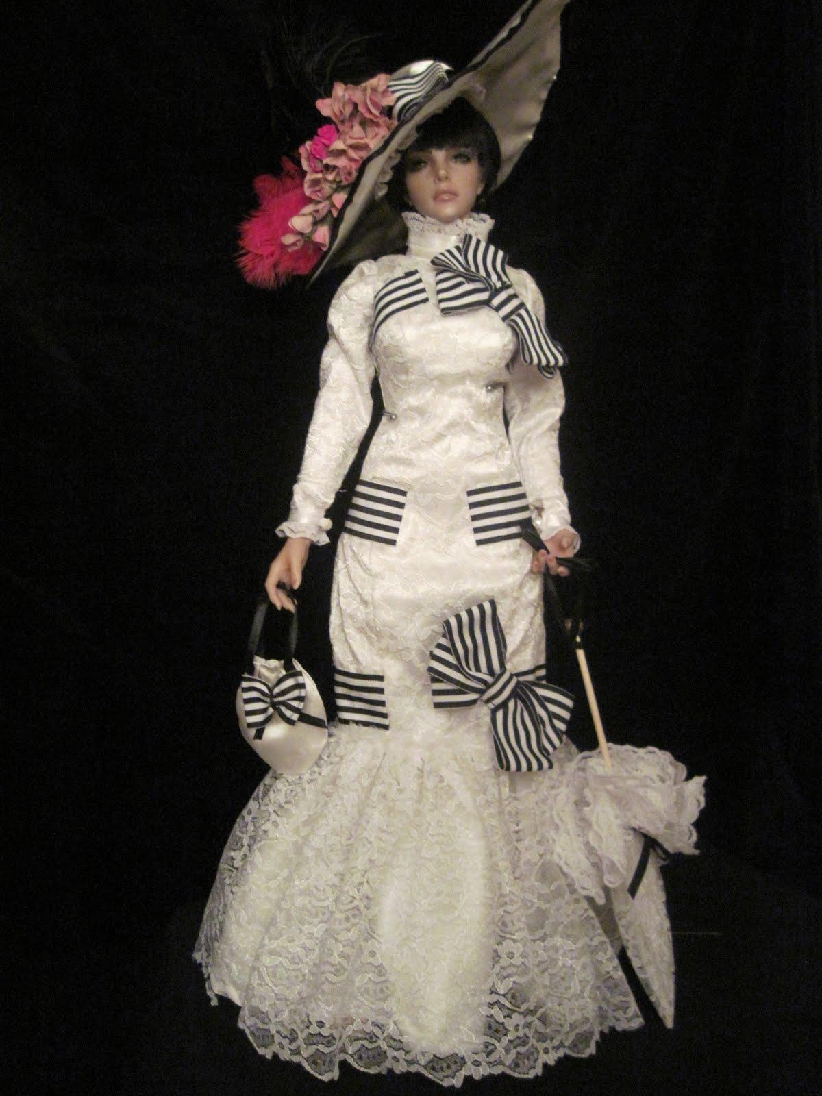 BJD\'s and Cloth Dolls by FaithyHopey: My Fair Lady Ascot Races Dress