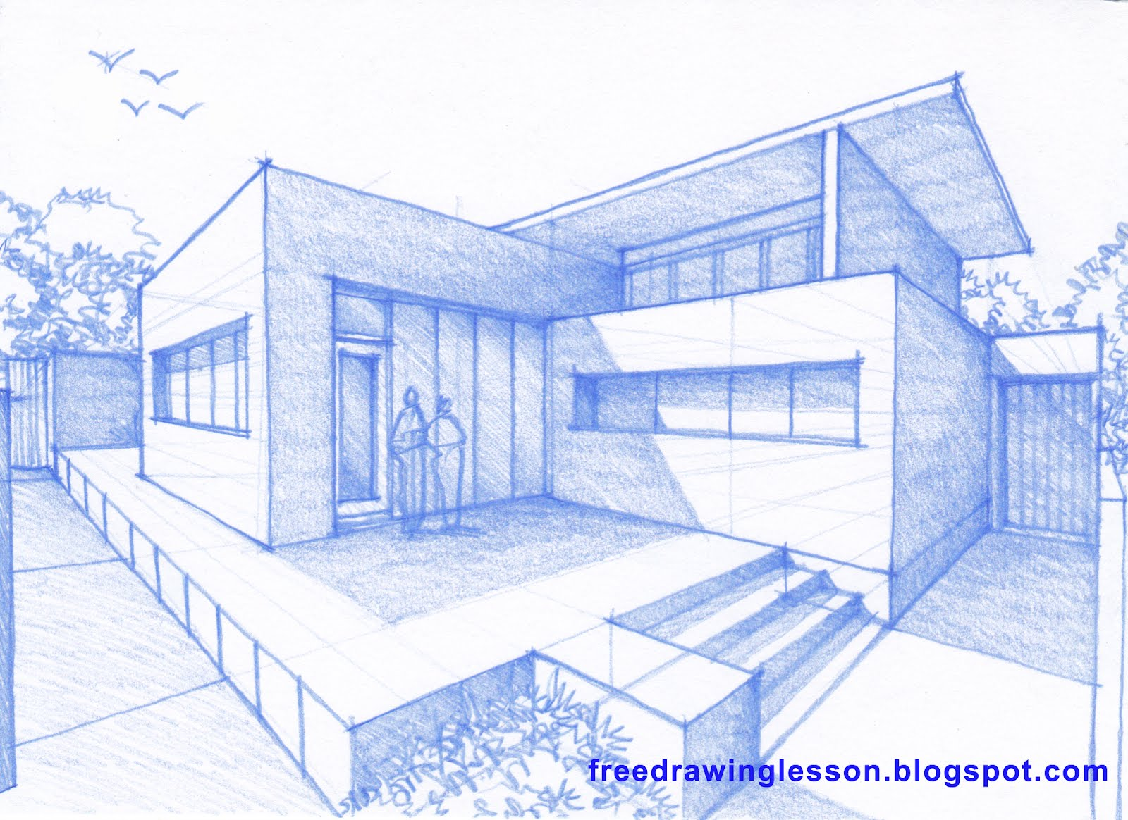 Learn to draw how to draw a house for Easy to draw mansion