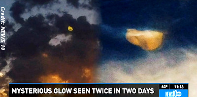Mysterious Cloud or UFO Over Sacramento, California?