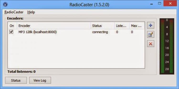 RadioCaster لانشاء محطة راديو من الكمبيوتر