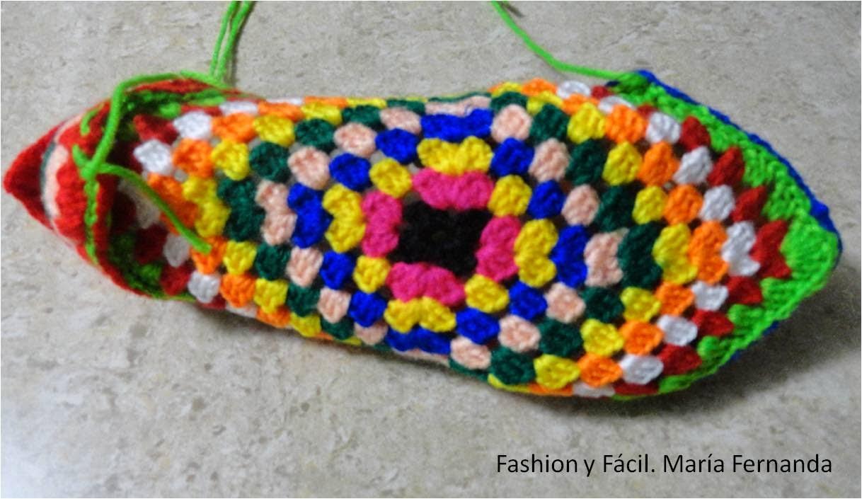 Fashion y Fácil : Tutorial de ganchillo para hacer slippers de punto ...