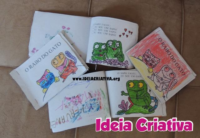 Produção coletiva do Livro Infantil O RABO DO GATO