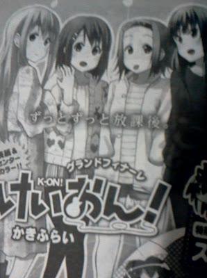 k-on nuevamente manga final anuncio