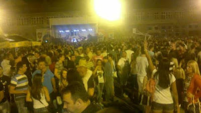 Several Serbian bands performed at the concert in Kosovska Mitrovica