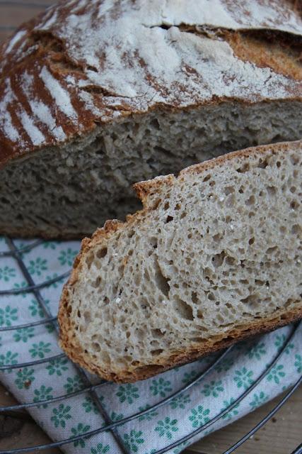No Knead Bread mit Vollkornmehl