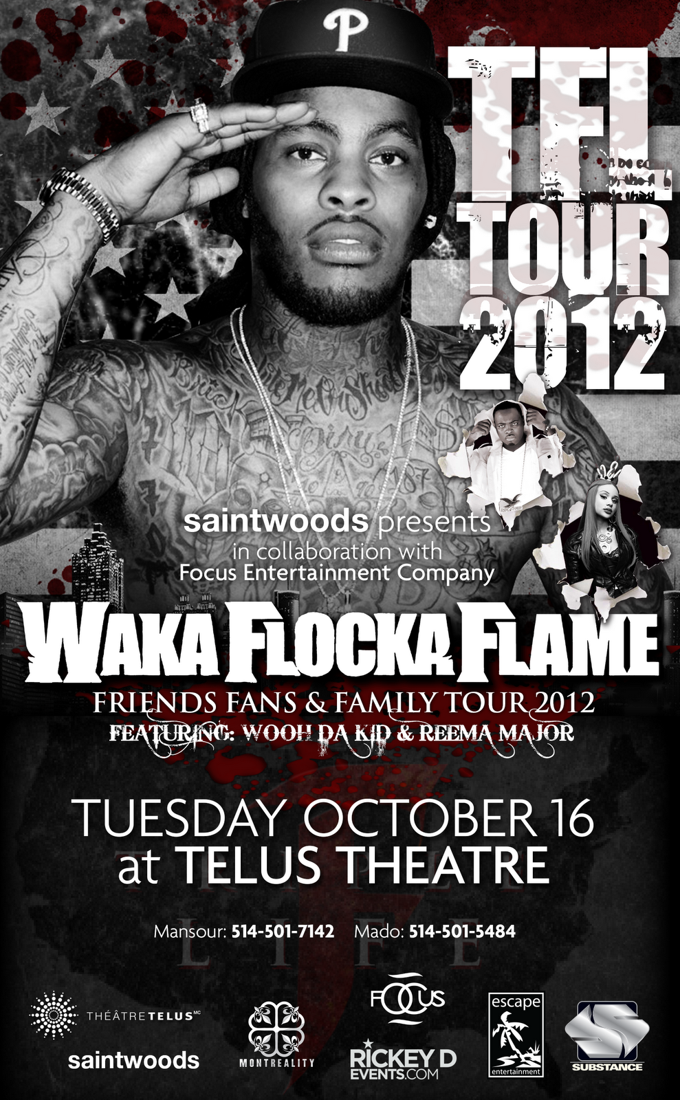 Waka Flocka Flame Triple F Life Tour in Montreal (Exclusive BTS ...