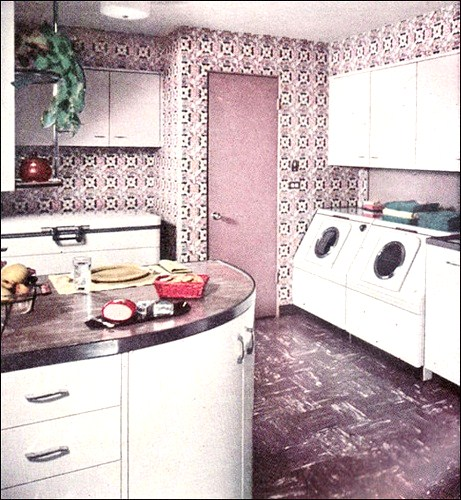 Purple And Pink Kitchen Colors Adding Retro Vibe To Modern: Vintage Laundry Rooms.... With Lots