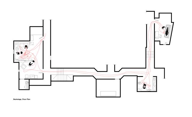 mapa del piso del teatro donde se filmó BIRDMAN, película ganadora del Oscar 2015