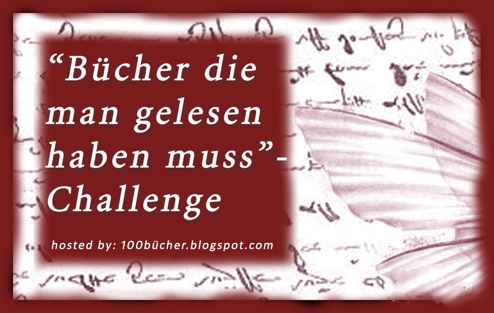 """""""Bücher die man gelesen haben muss""""-Challenge"""