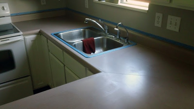 Does Rustoleum Countertop Paint Work : Painted Countertops. - Chris Loves Julia