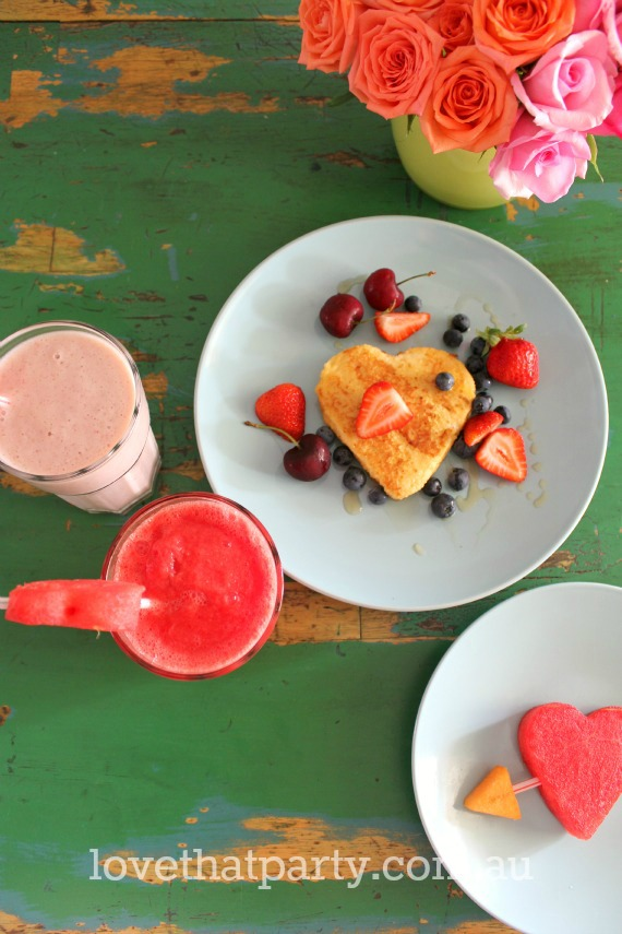 valentine's day french toast smoothie recipe diy