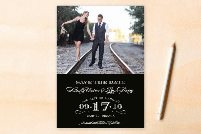 typographic formal photo save the date