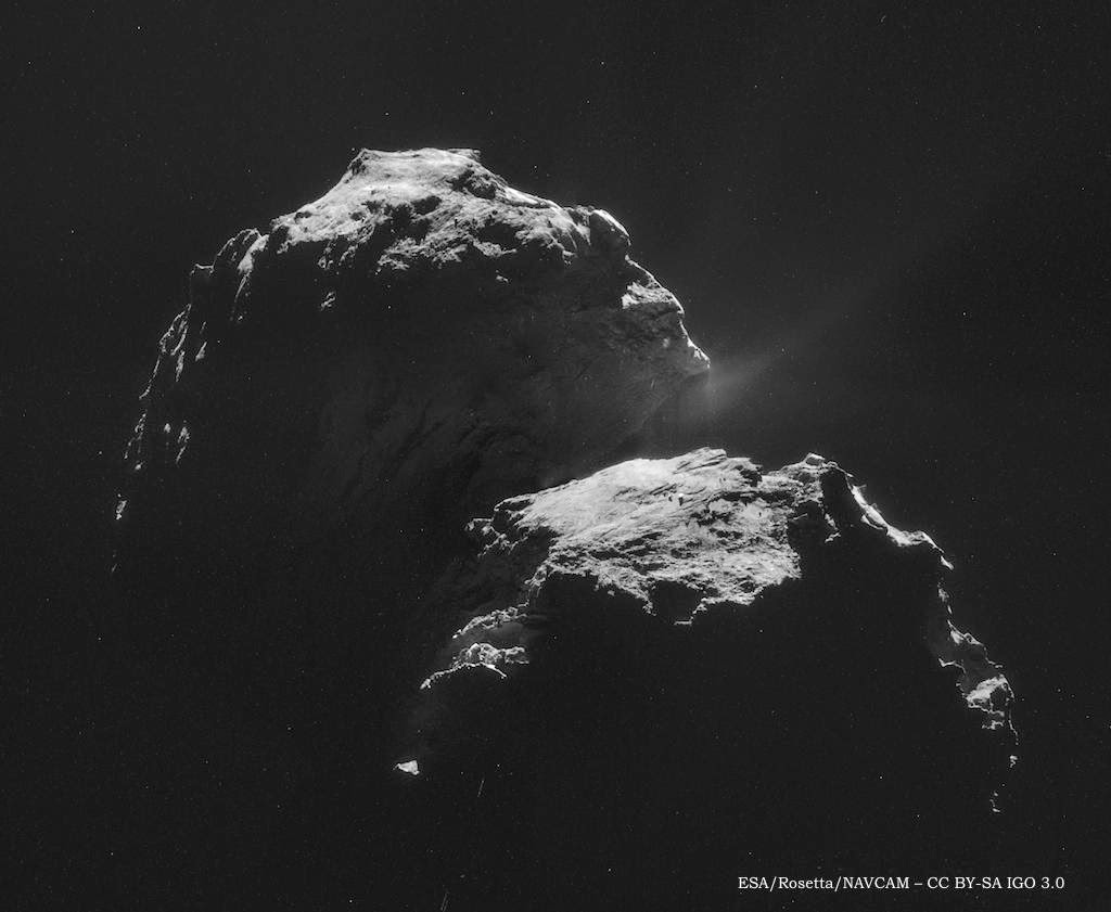 Comet 67P mosaic photographs by Rosetta NAVCAM taken 4 November 2014