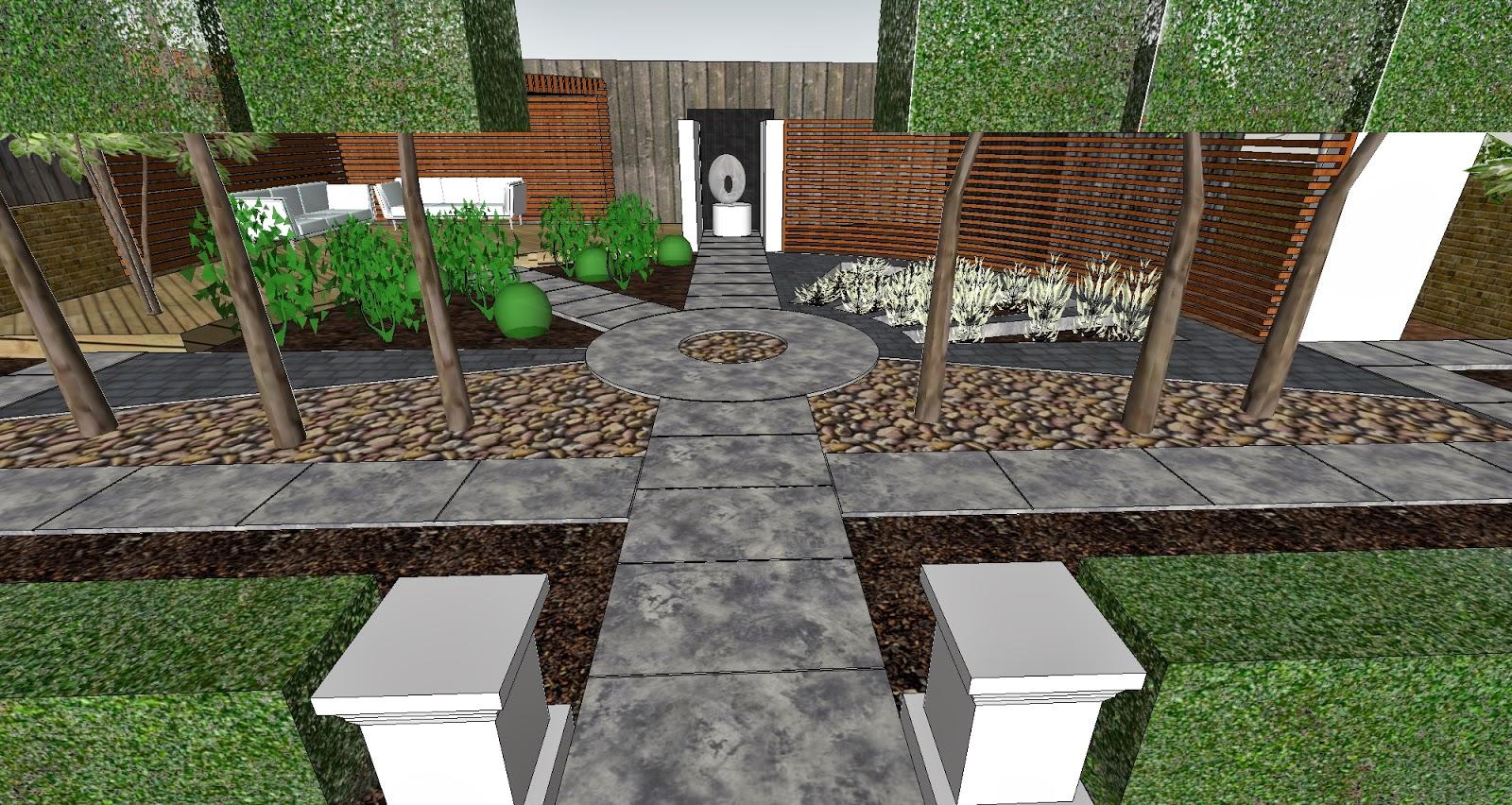 Garden design visualisation with custom texture maps for Garden design sketchup 8