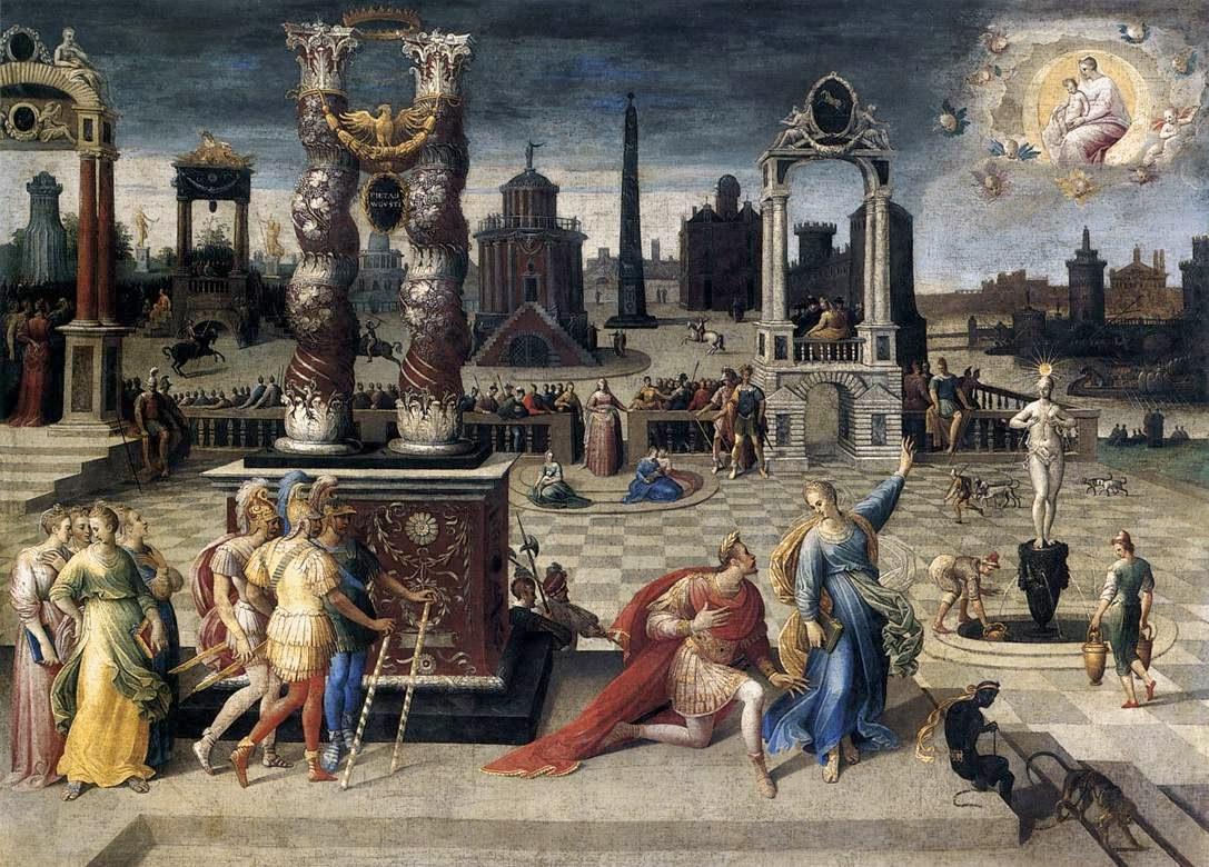 Antoine Caron - Auguste et la sybille,1578.