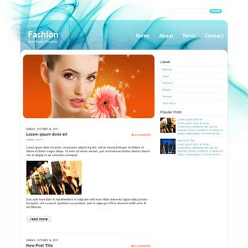 Fashion blog template. download blogger template for fashion blogs