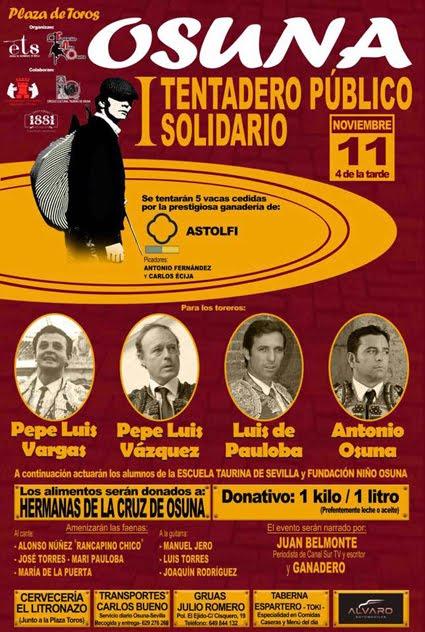OSUNA (ESPAÑA) 11-11-2017. I TENTADERO PUBLICO.